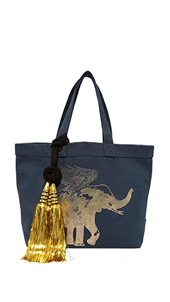 Figue x Space for Giants Flying Elephant Tote - Midnight Navy