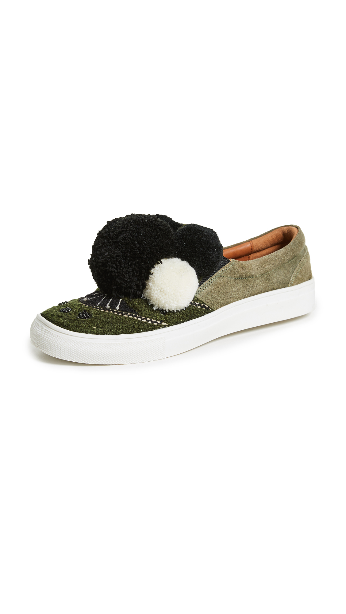 Figue Karita Slip On Sneakers - Cactus Green