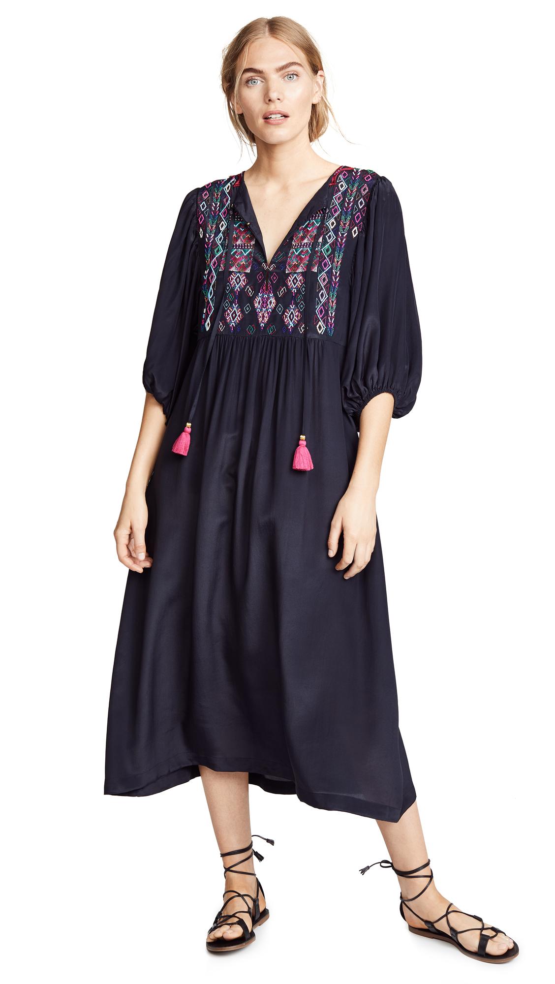 Figue Delfina Dress In Midnight Navy