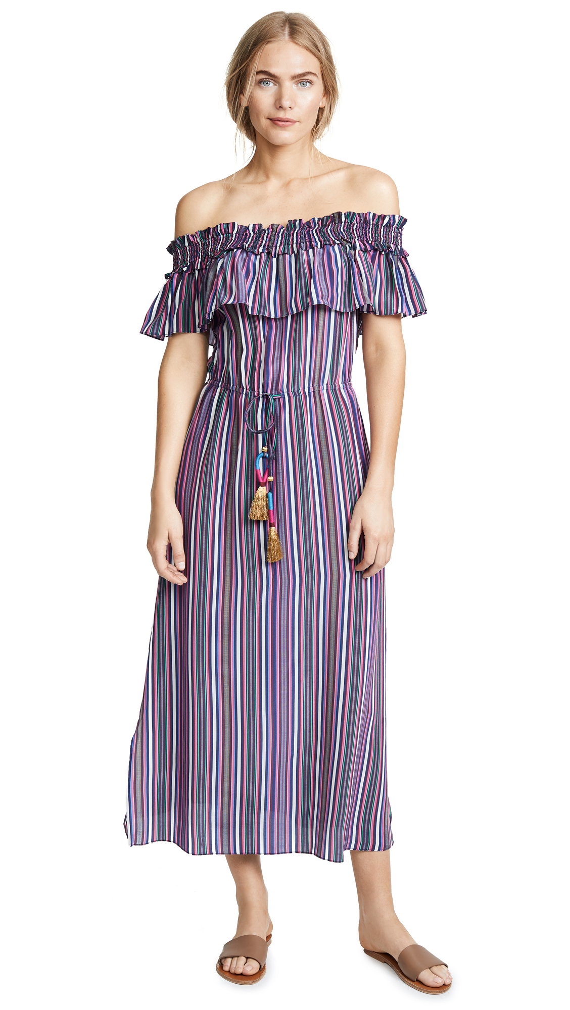 Figue Mirella Dress In Multi Stripe