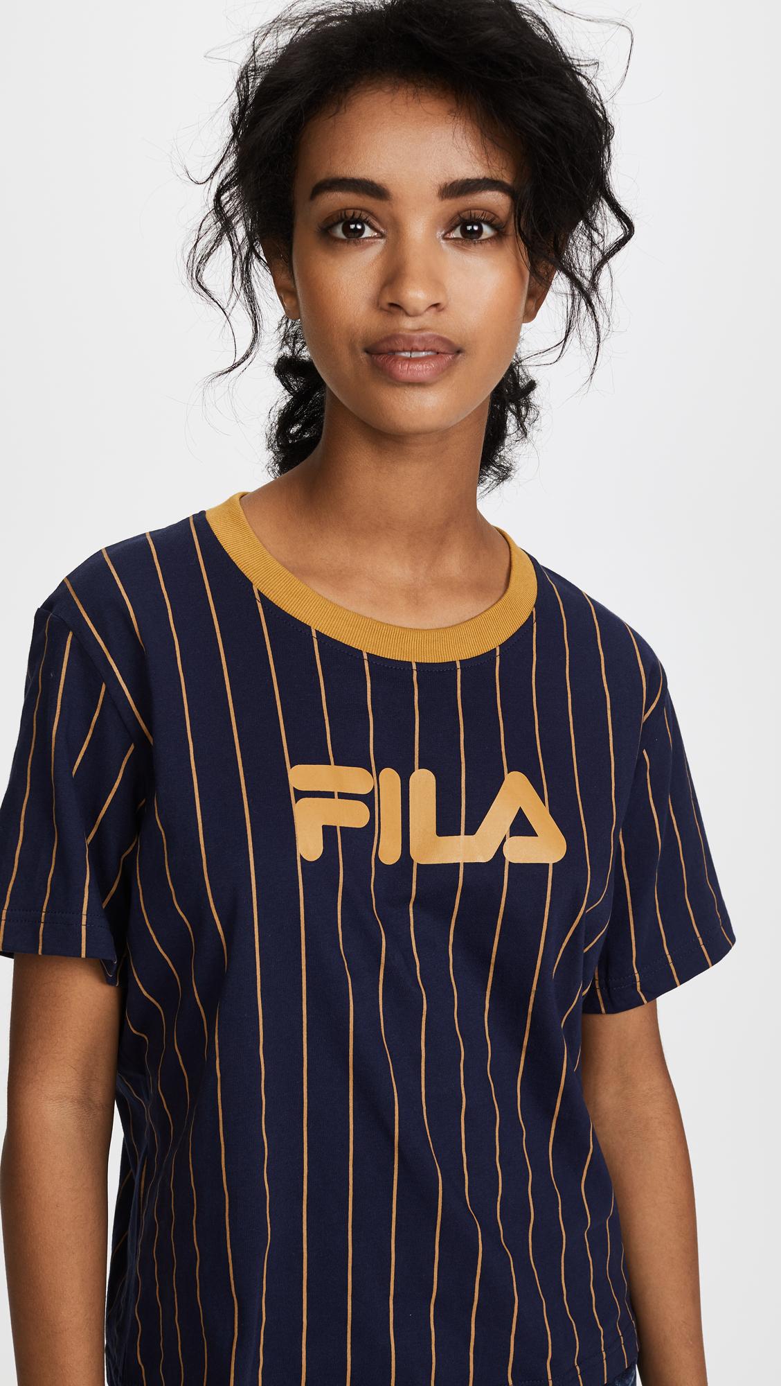 b1879c805cda22 Fila Lonnie Pinstripe T-Shirt