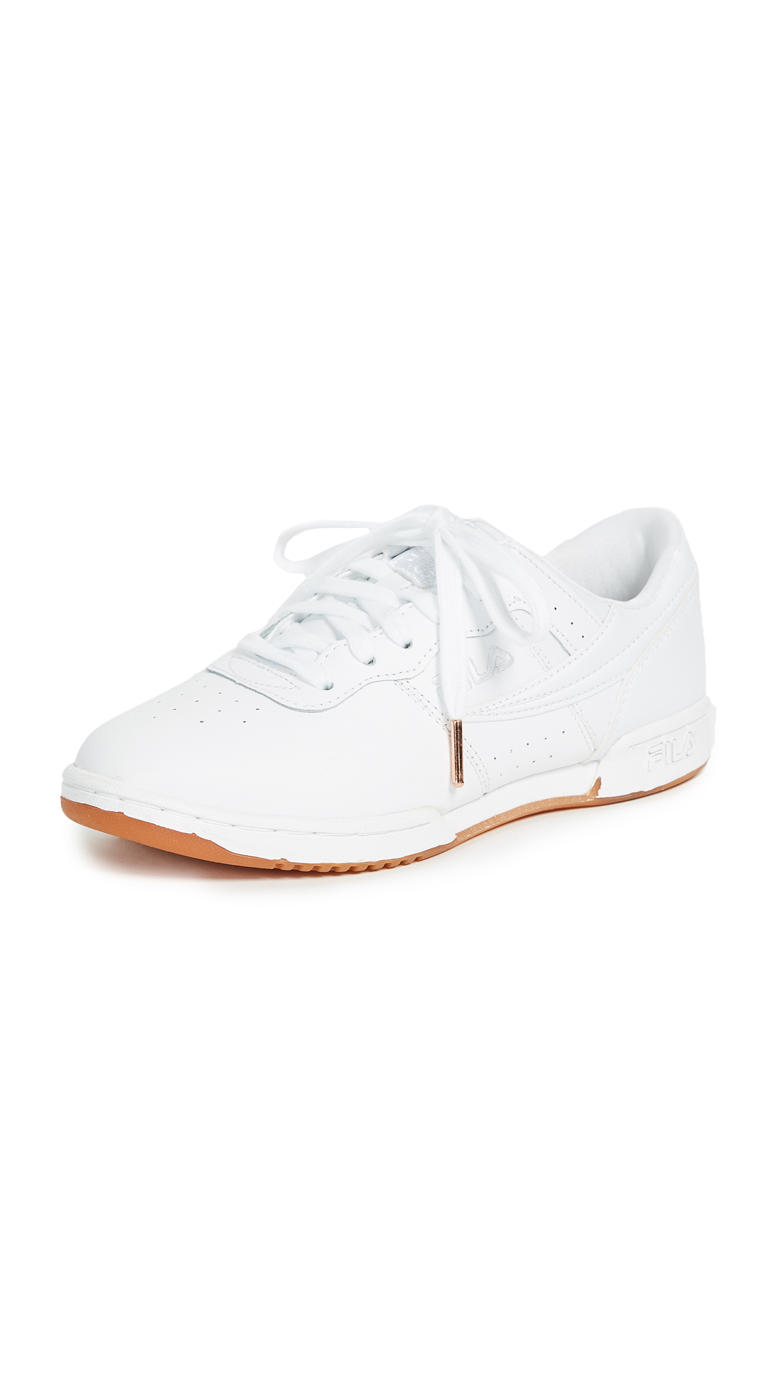 Fila Original Fitness Zipper Sneakers - White/White/Gum