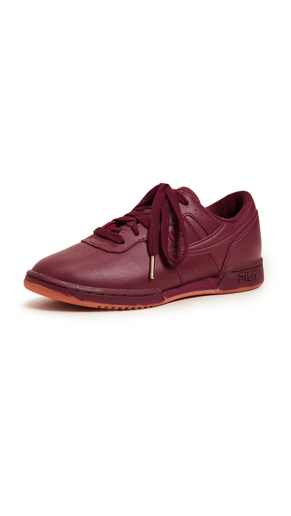 Fila Original Fitness Zipper Sneakers - Tawny Port/Gum