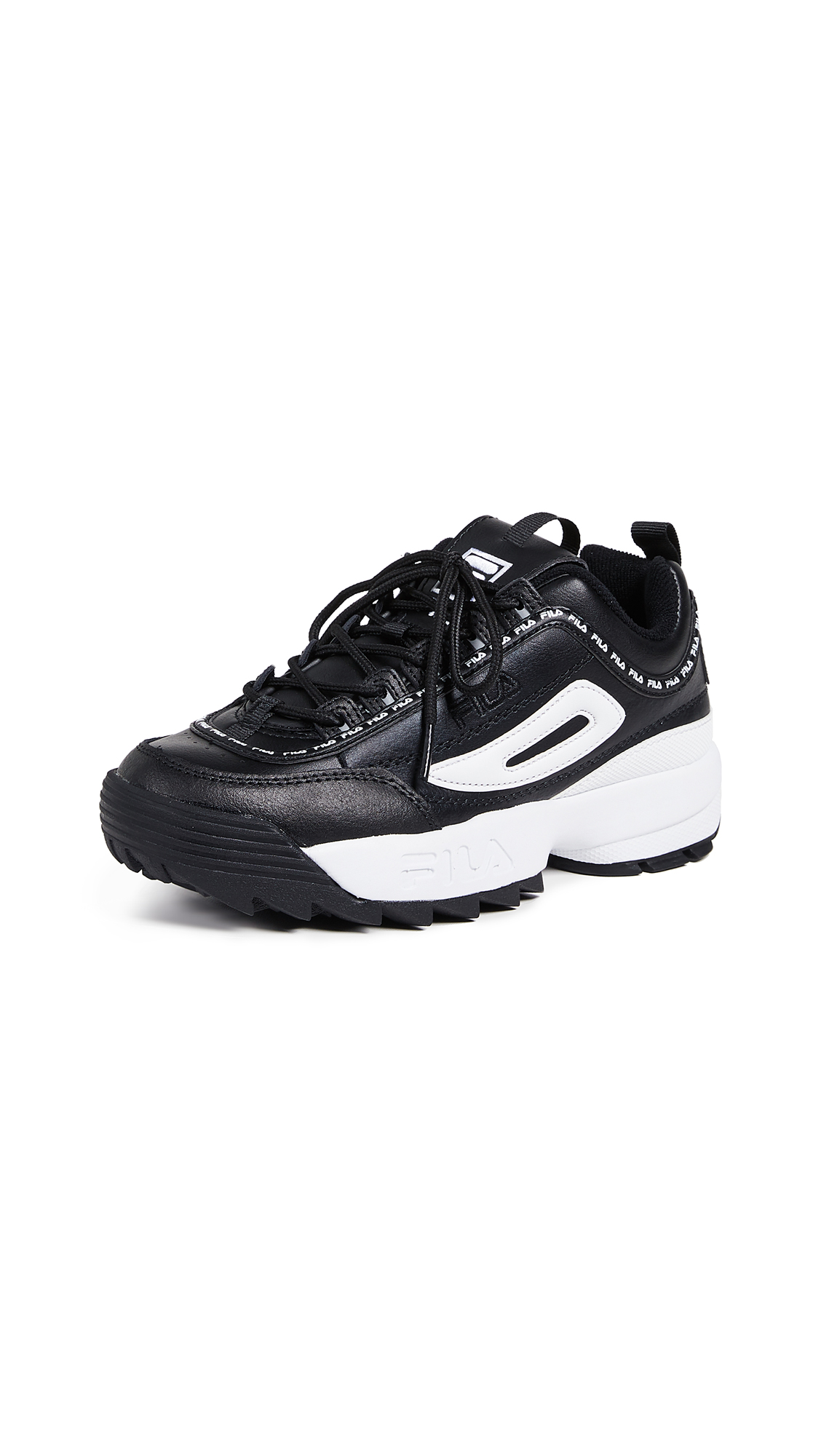 Disruptor Ii Premium Repeat Sneakers in Black/White