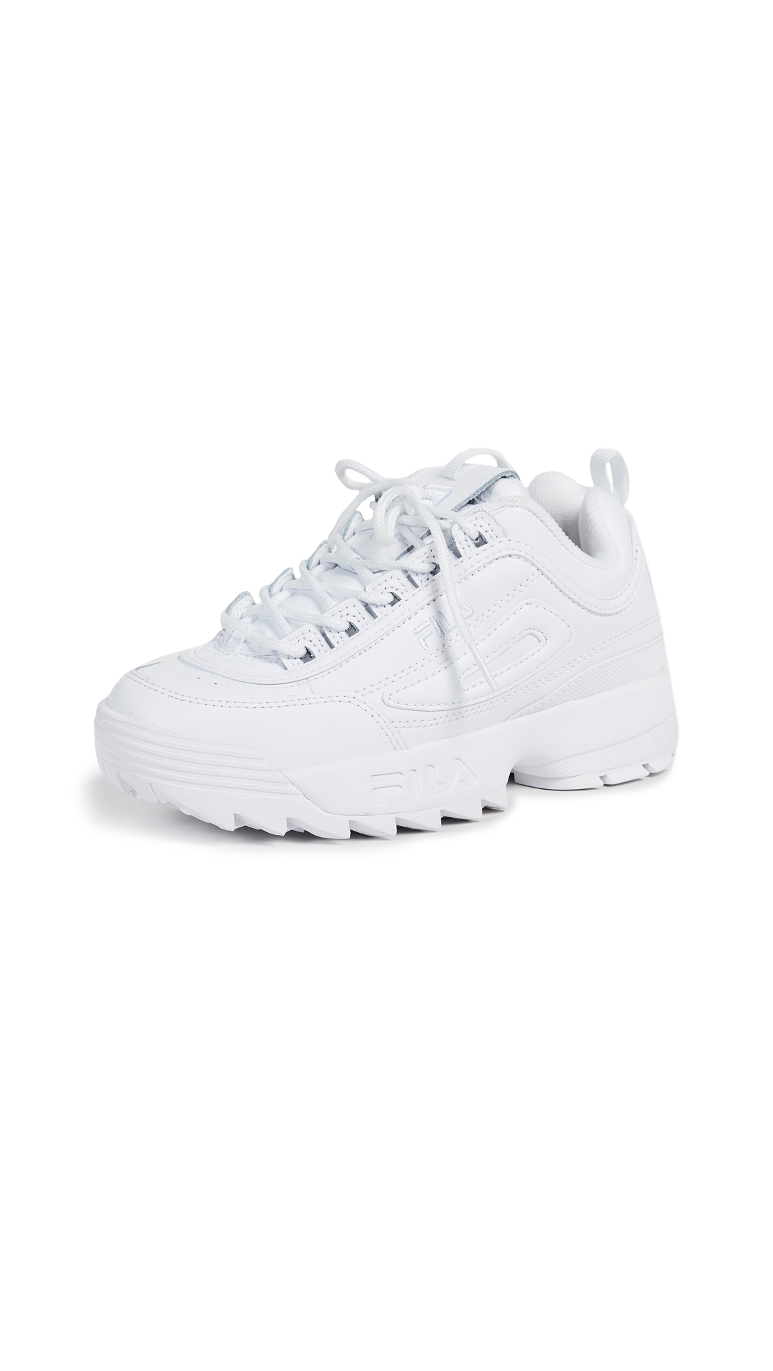 Fila Disruptor II Premium Sneakers - White/White/White