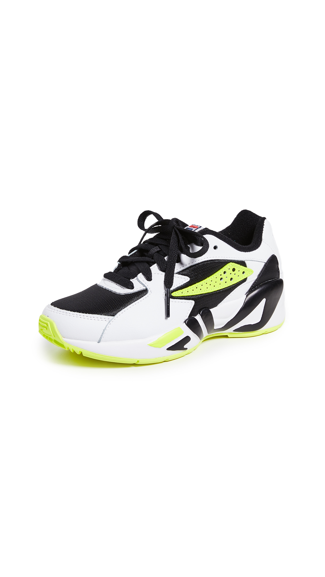 Fila Mindblower Vintage Runners - Black/White/Green