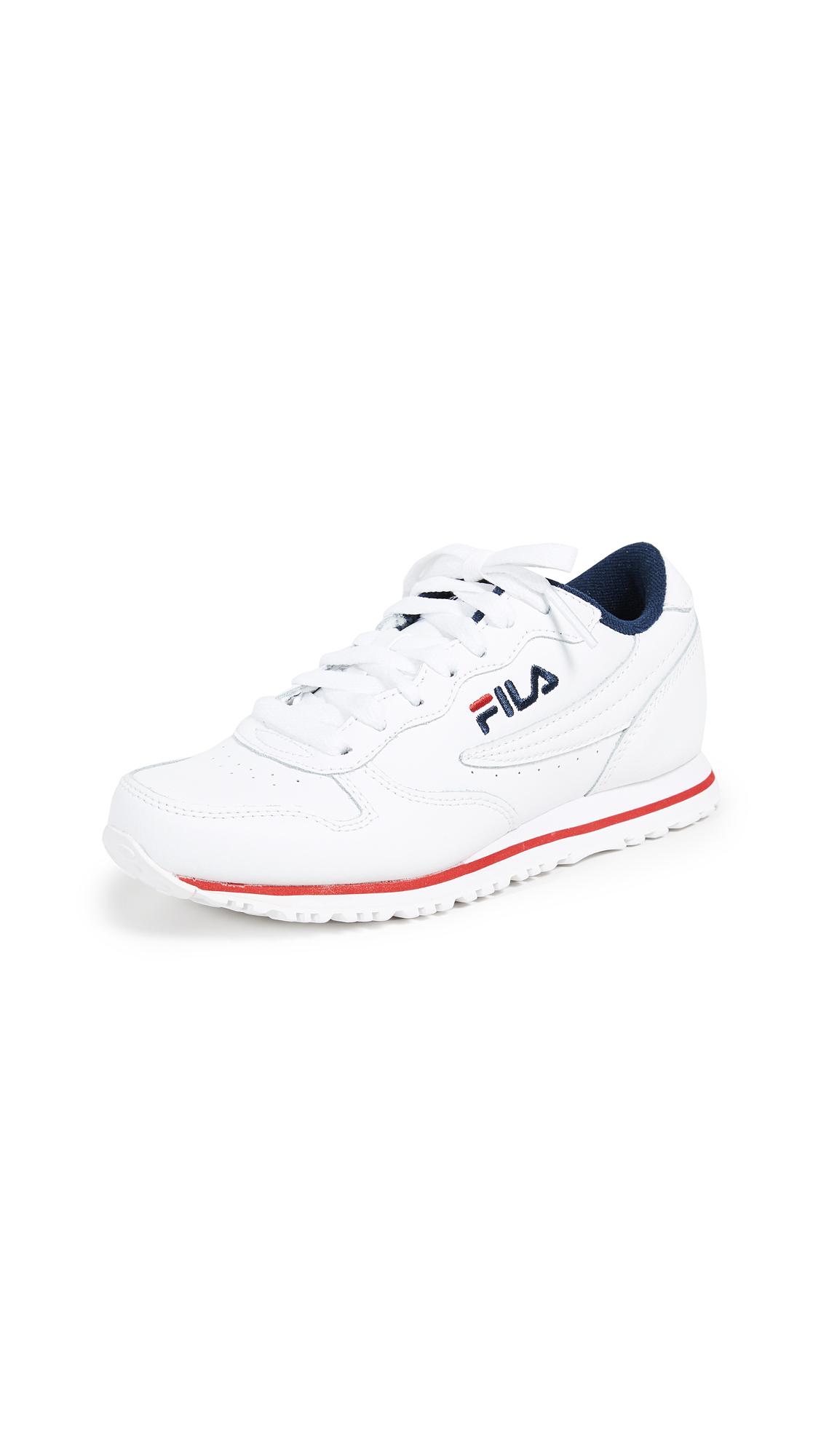 Fila Euro Jogger II Sneakers - White/Fila Navy/Fila Red