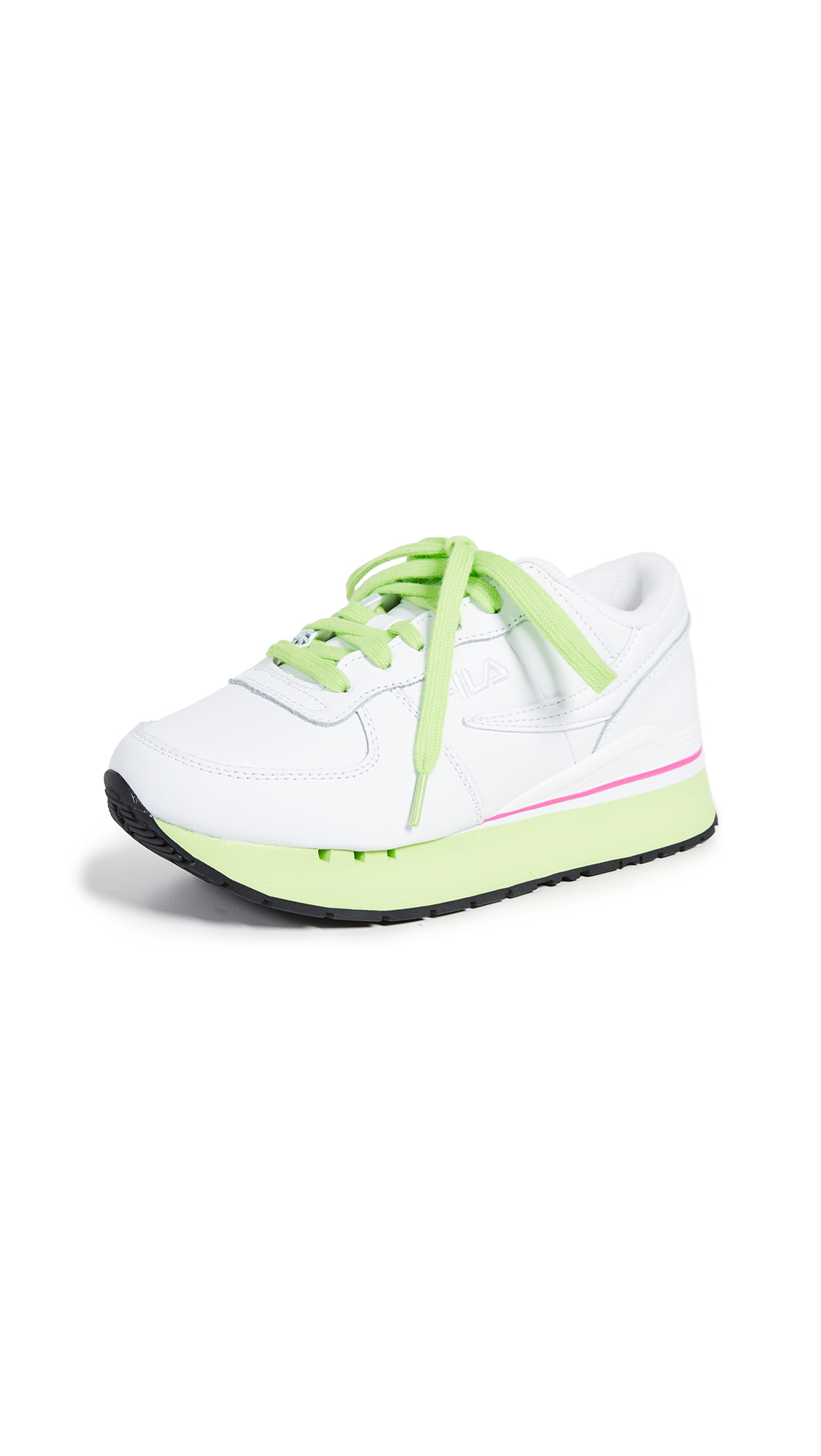 Fila Original Running Primavera Sneakers - White/Green/Fuchsia