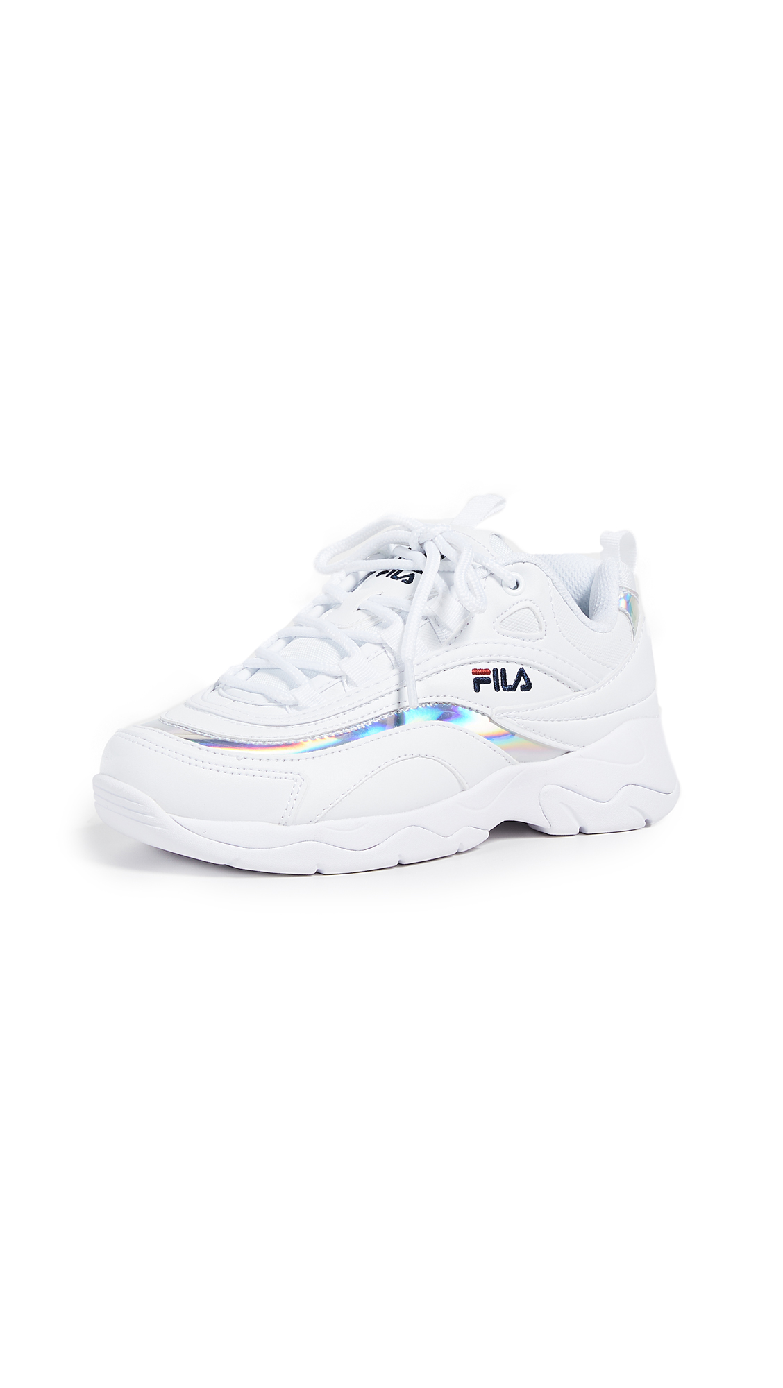 Fila Fila Ray Sneakers - White/Metallic Silver/White