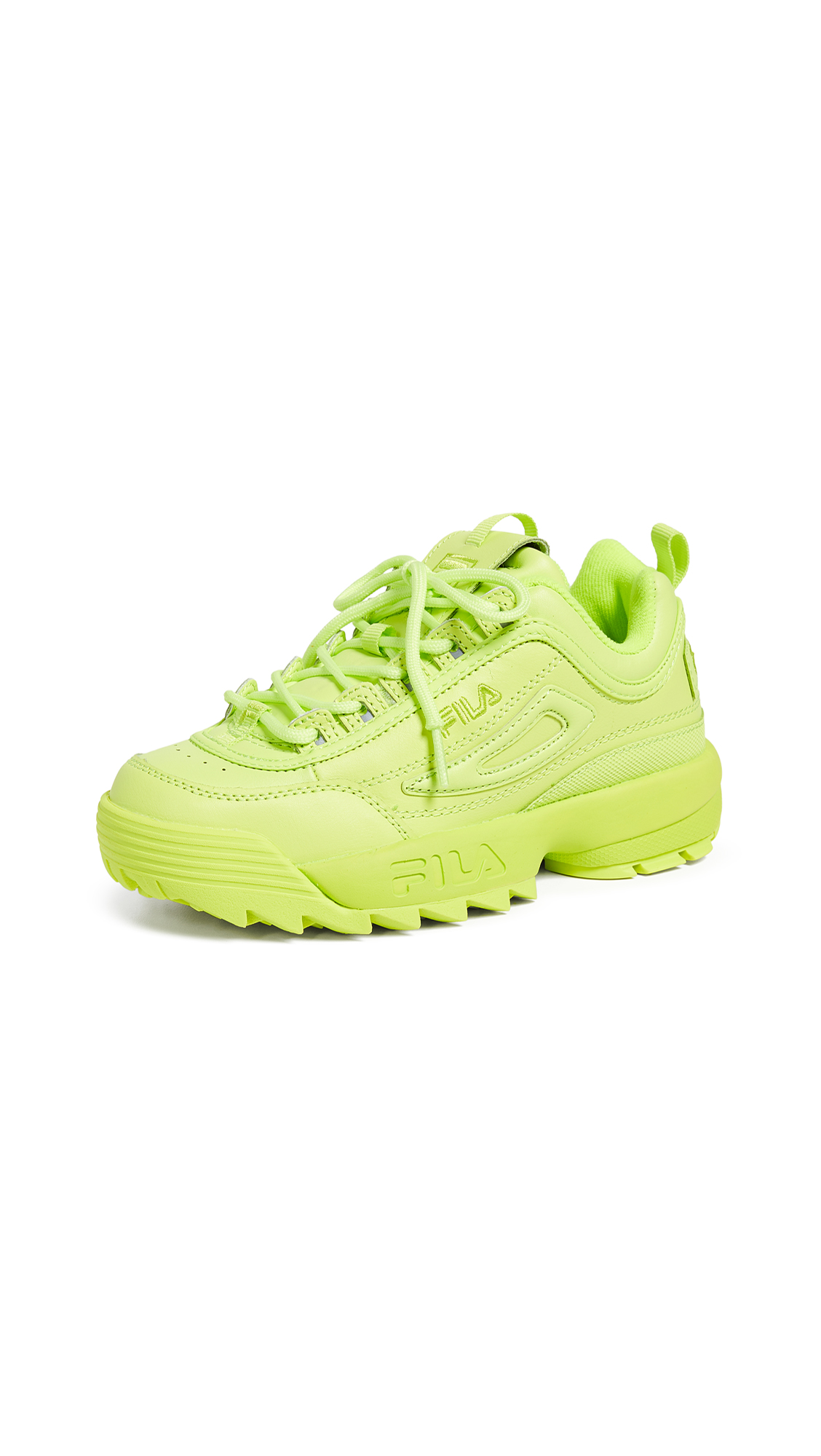 Fila Disruptor II Premium Sneakers - Sharp Green/Sharp Green