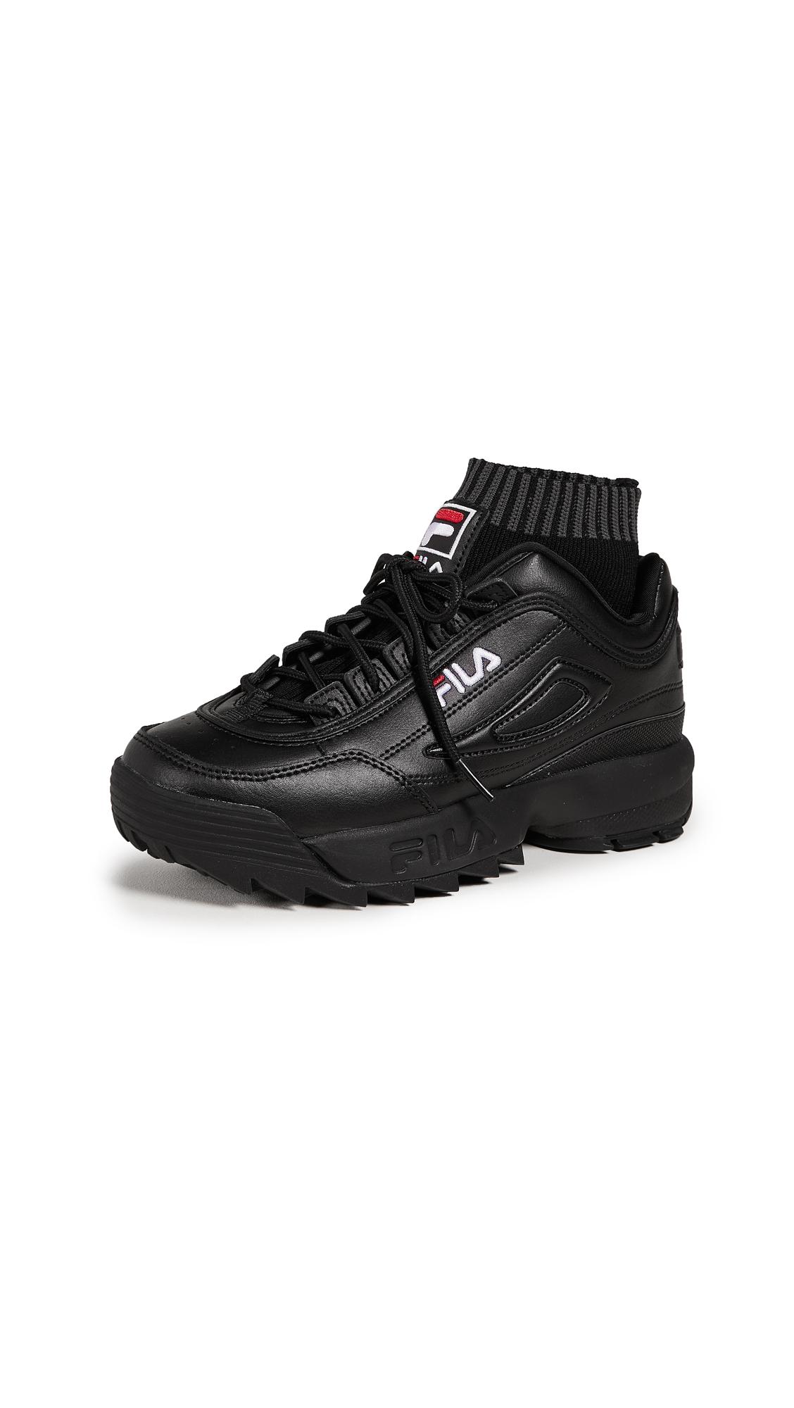 Fila Disruptor Evo Sockfit Sneakers - Black/White/Fila Red