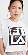 Fila Ava Crop Sequin Tee