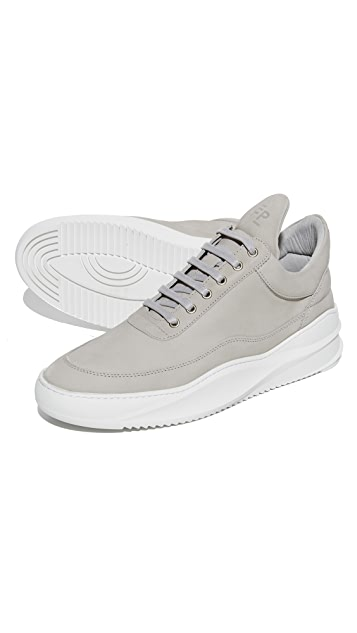 Filling Pieces Low Top Suede Sneakers