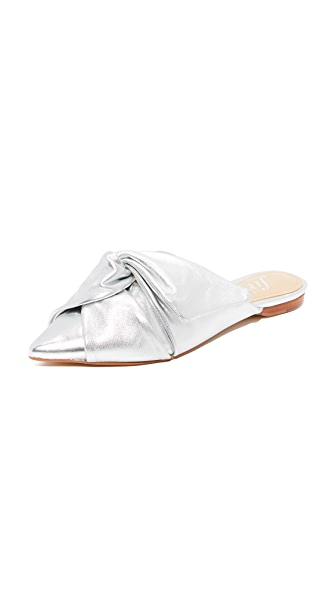 The Fix Esmeralda Mules - Silver