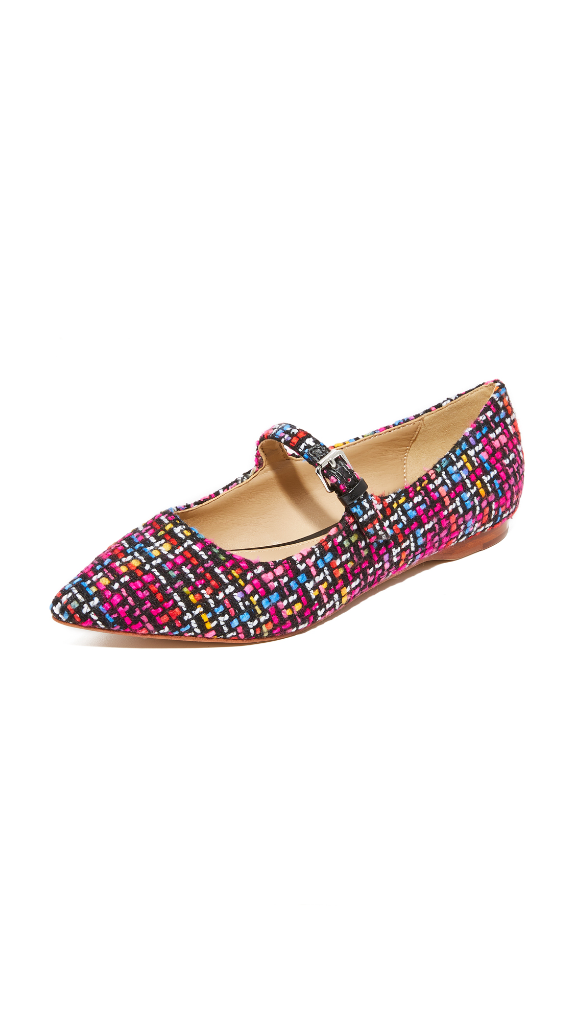 The Fix Estrella1 Strappy Flats - Pink Multi