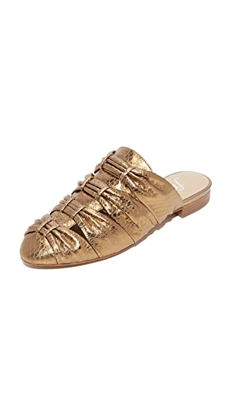 The Fix Oliviah Mules - Dark Gold/Bronze