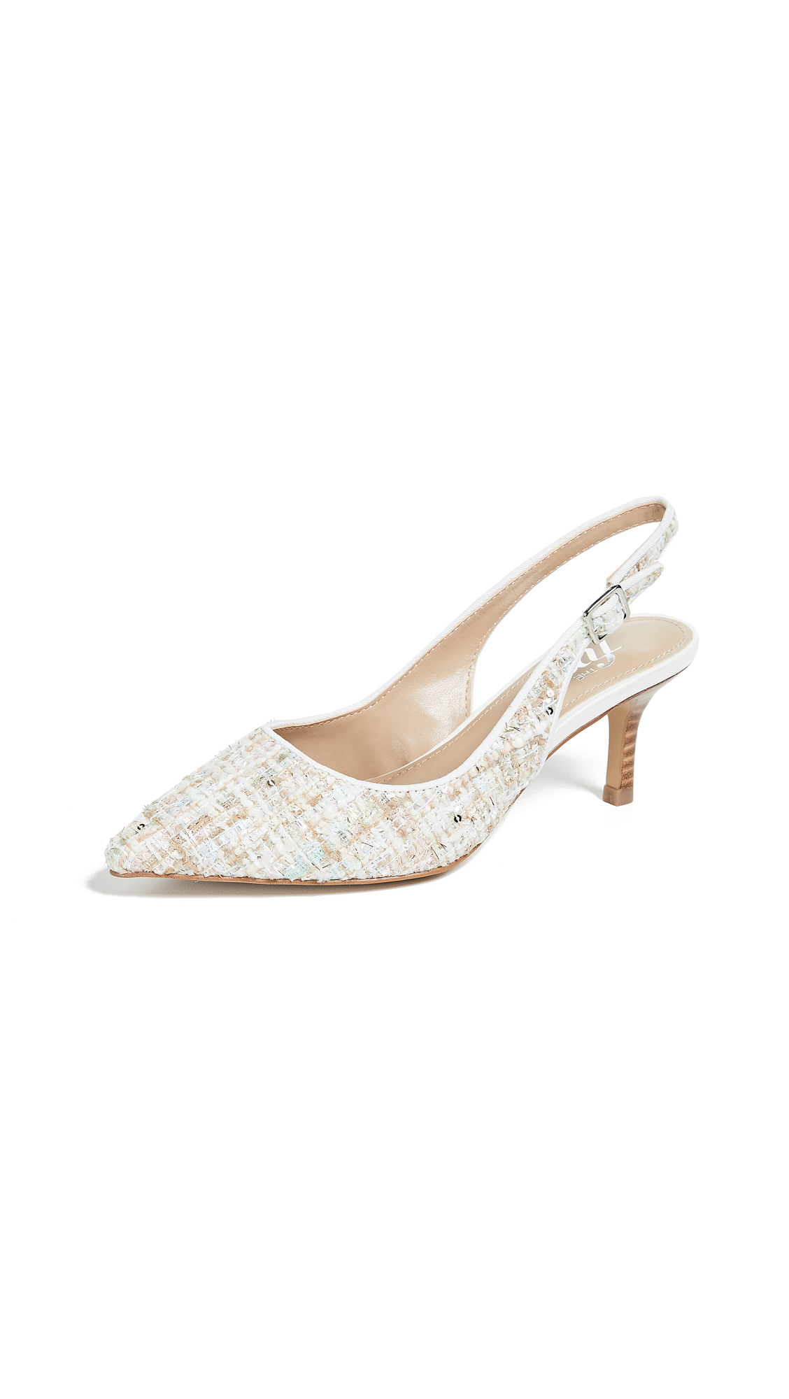 The Fix Felicia Slingback Pumps - Bright White