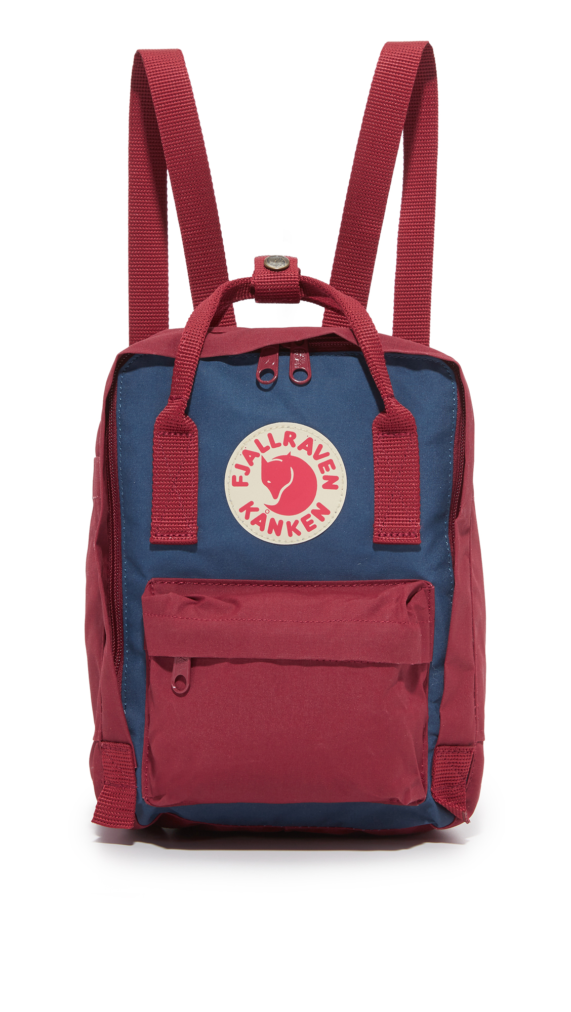 A sturdy Fjällräven backpack, detailed with a reflective logo patch and front zip pocket. Patch side pockets offer easy access to essentials, and a 2 way, wraparound zip secures the top. A removable foam panel