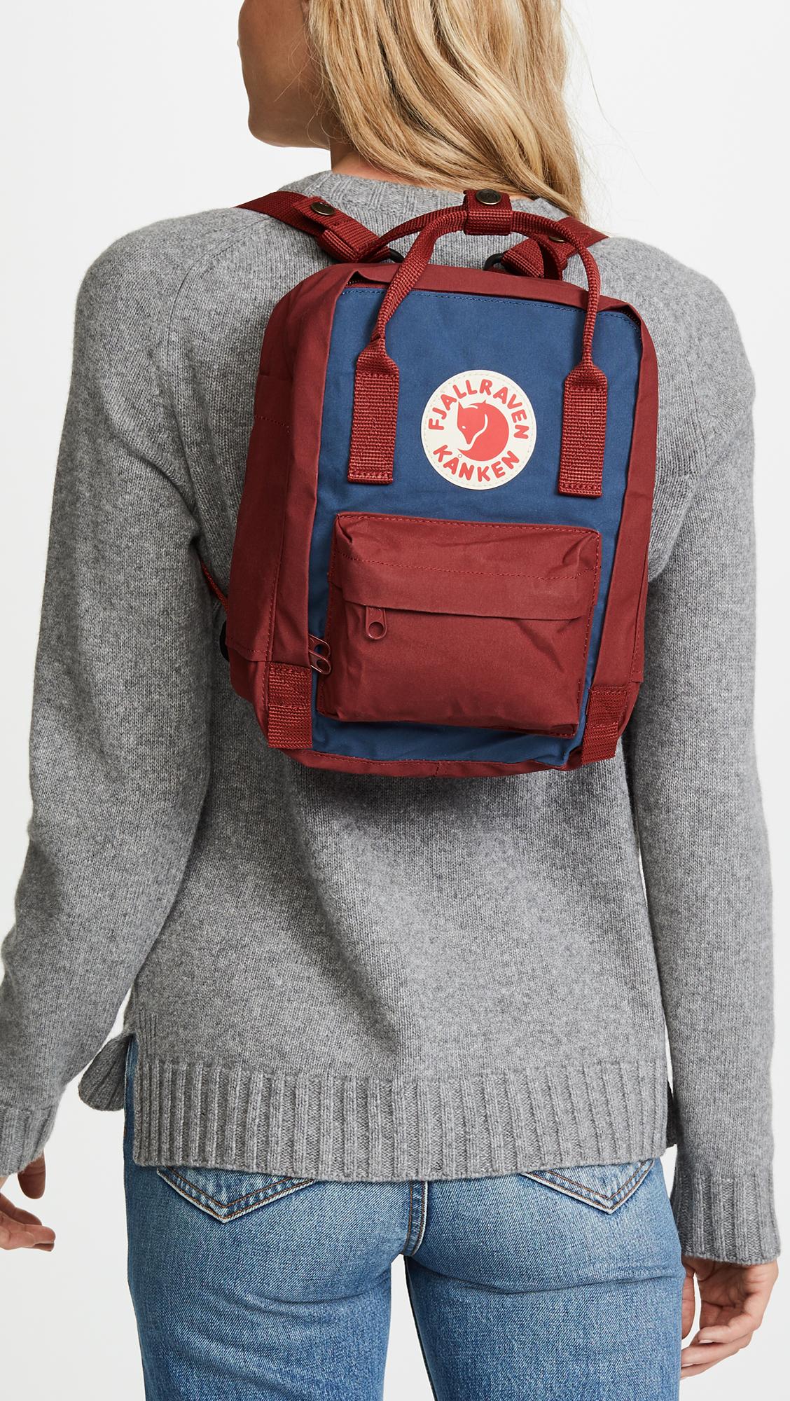 Fjallraven Kanken Mini Backpack Shopbop Black Ox Red