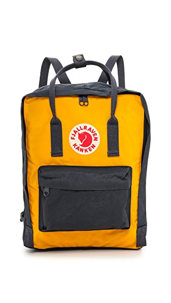 Fjallraven Kanken Backpack - Navy/Warm Yellow