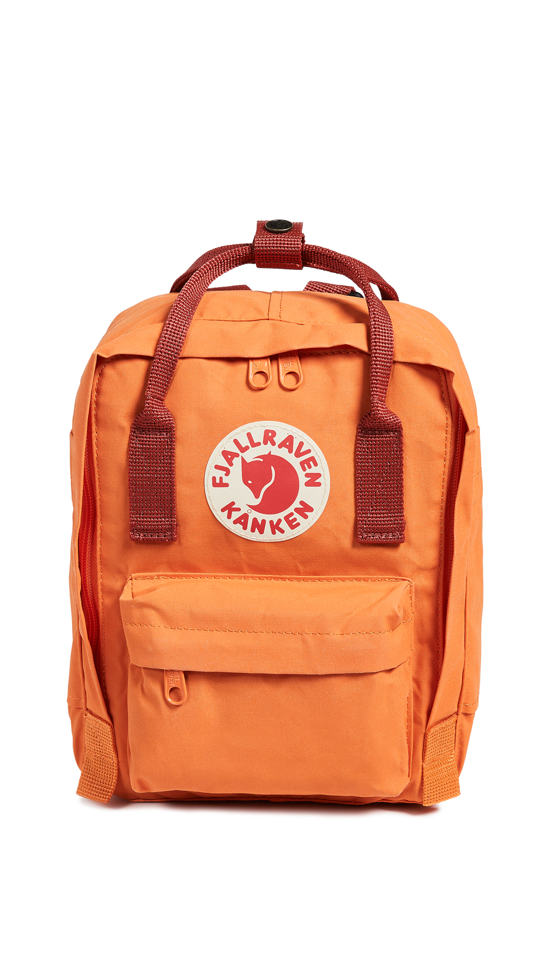 FJALL RAVEN Kanken Mini Backpack in Burnt Orange/Deep Red