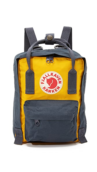 Fjallraven Kanken Mini Backpack - Navy/Warm Yellow