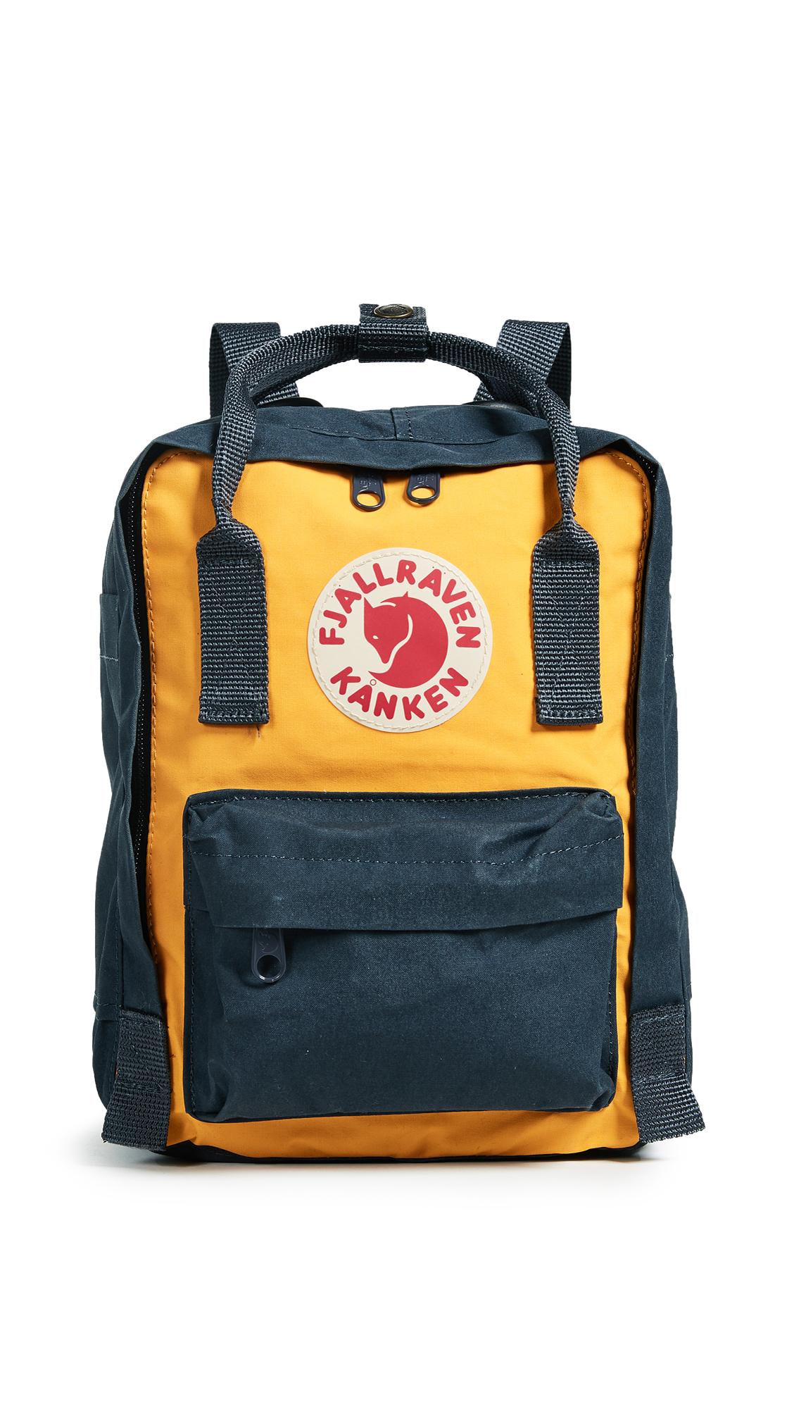 Fjallraven Kanken Mini Backpack - Navy/Warm Yellow