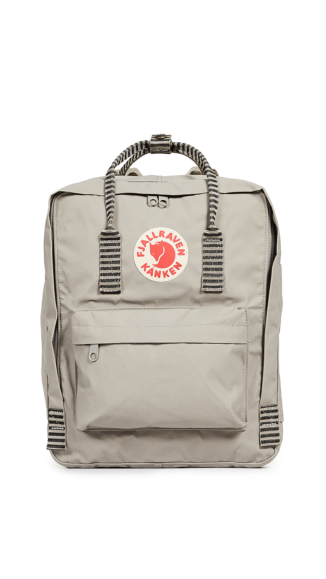 FJALL RAVEN Kanken Backpack in Fog/Striped