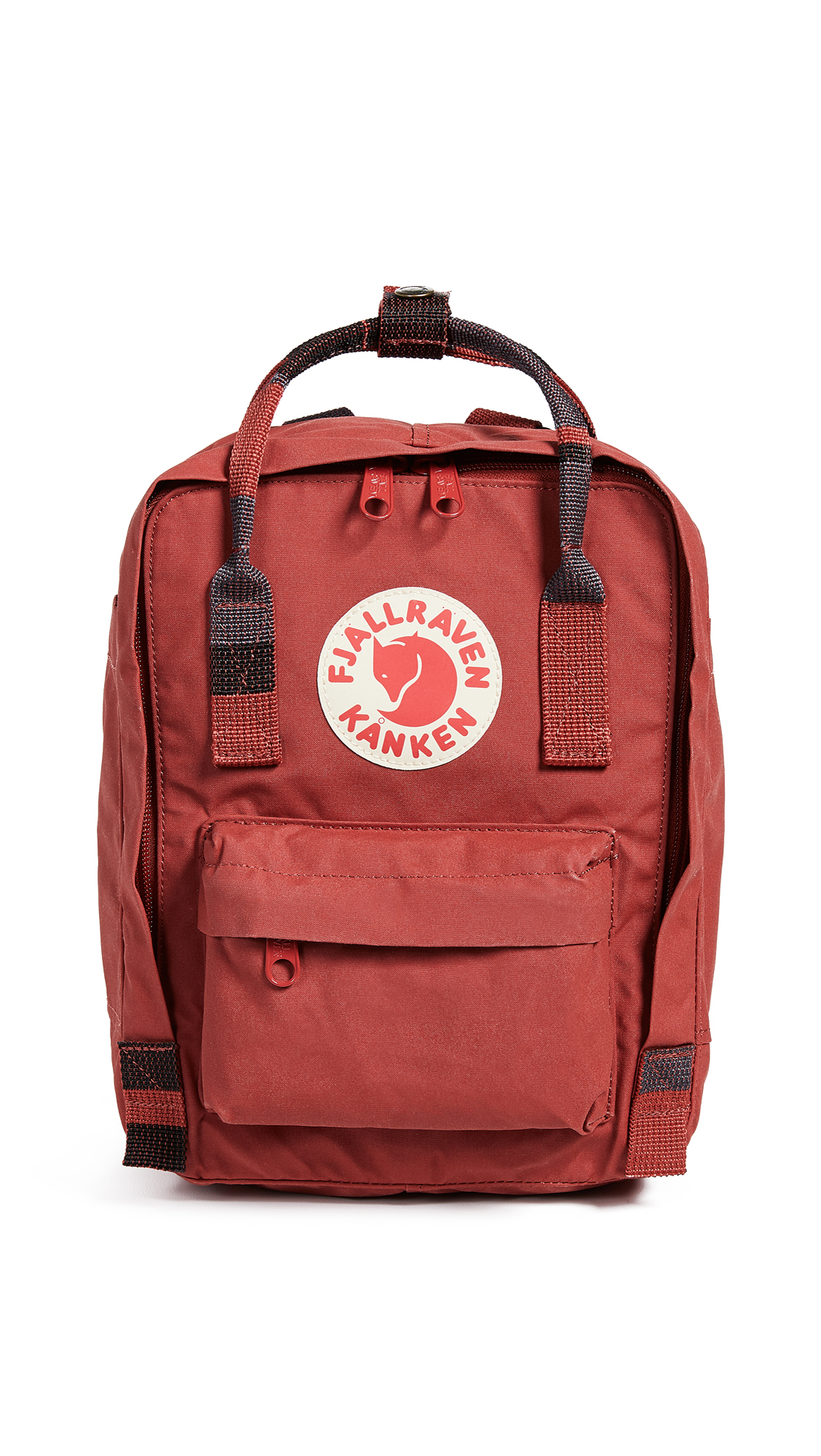 FJALL RAVEN Kanken Mini Backpack in Deep Red/Random Blocked