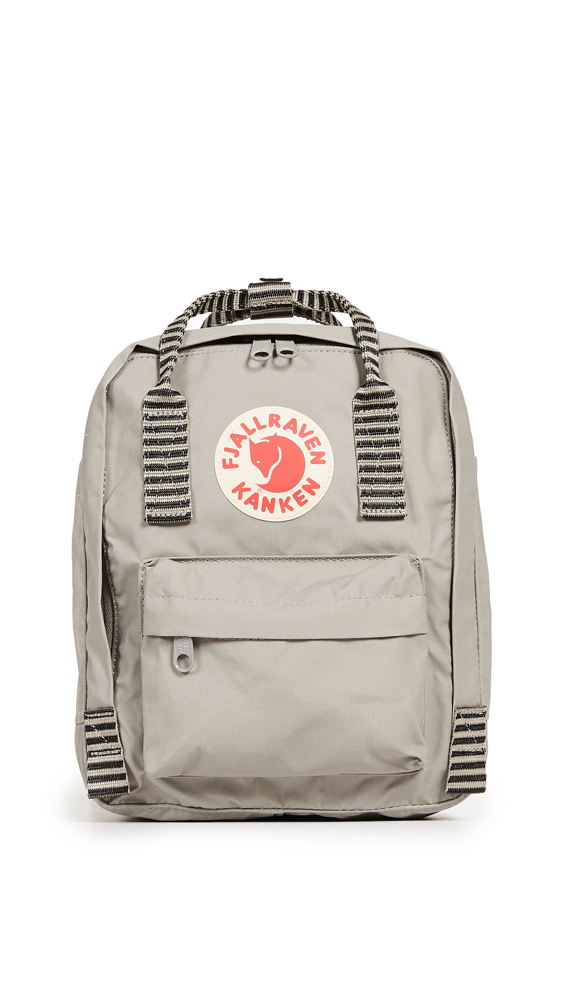 FJALL RAVEN Kanken Mini Backpack in Fog/Striped