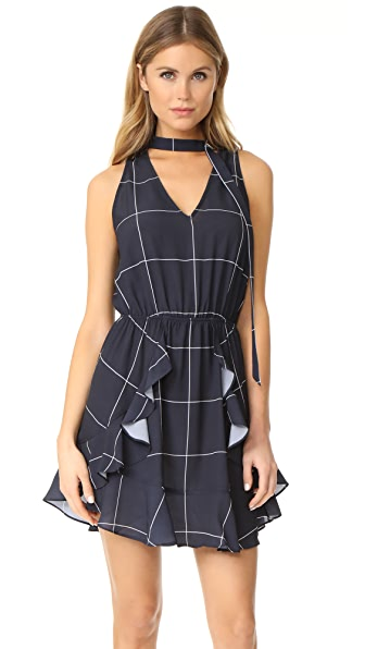 findersKEEPERS Curtis Dress - Navy Check