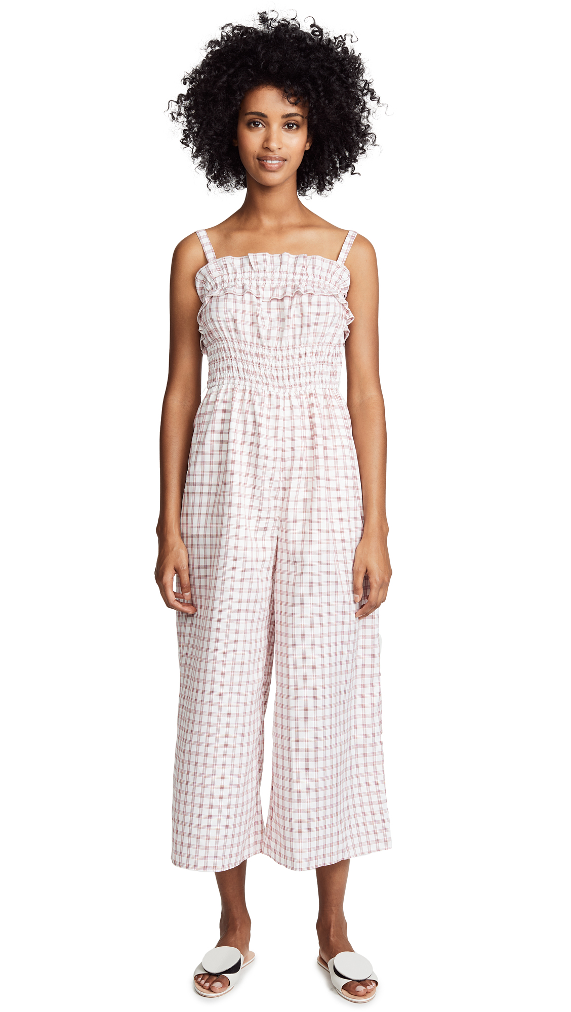 findersKEEPERS Merci Jumpsuit In Cherry Check