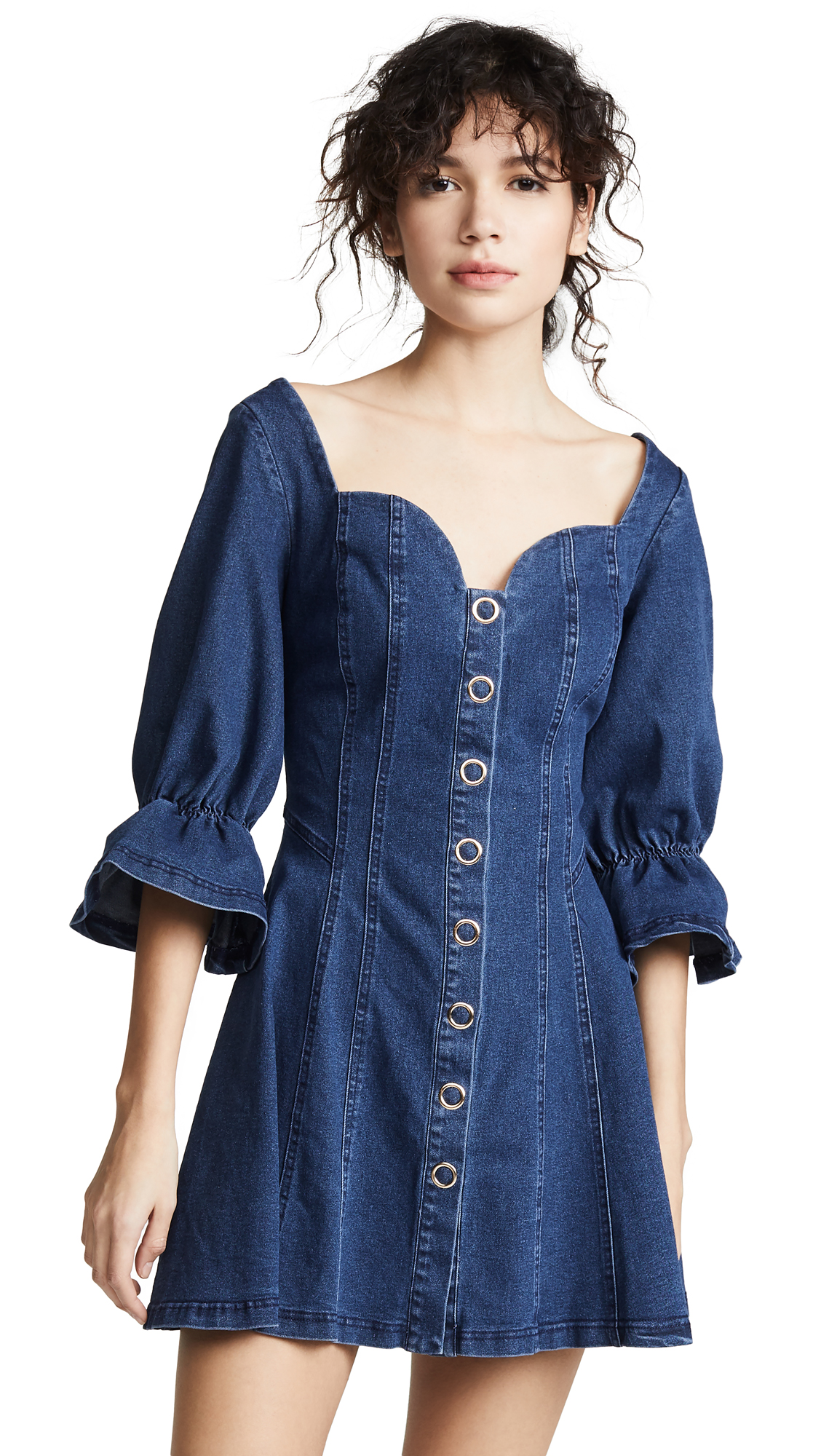 findersKEEPERS Deja Vu Mini Dress - Indigo