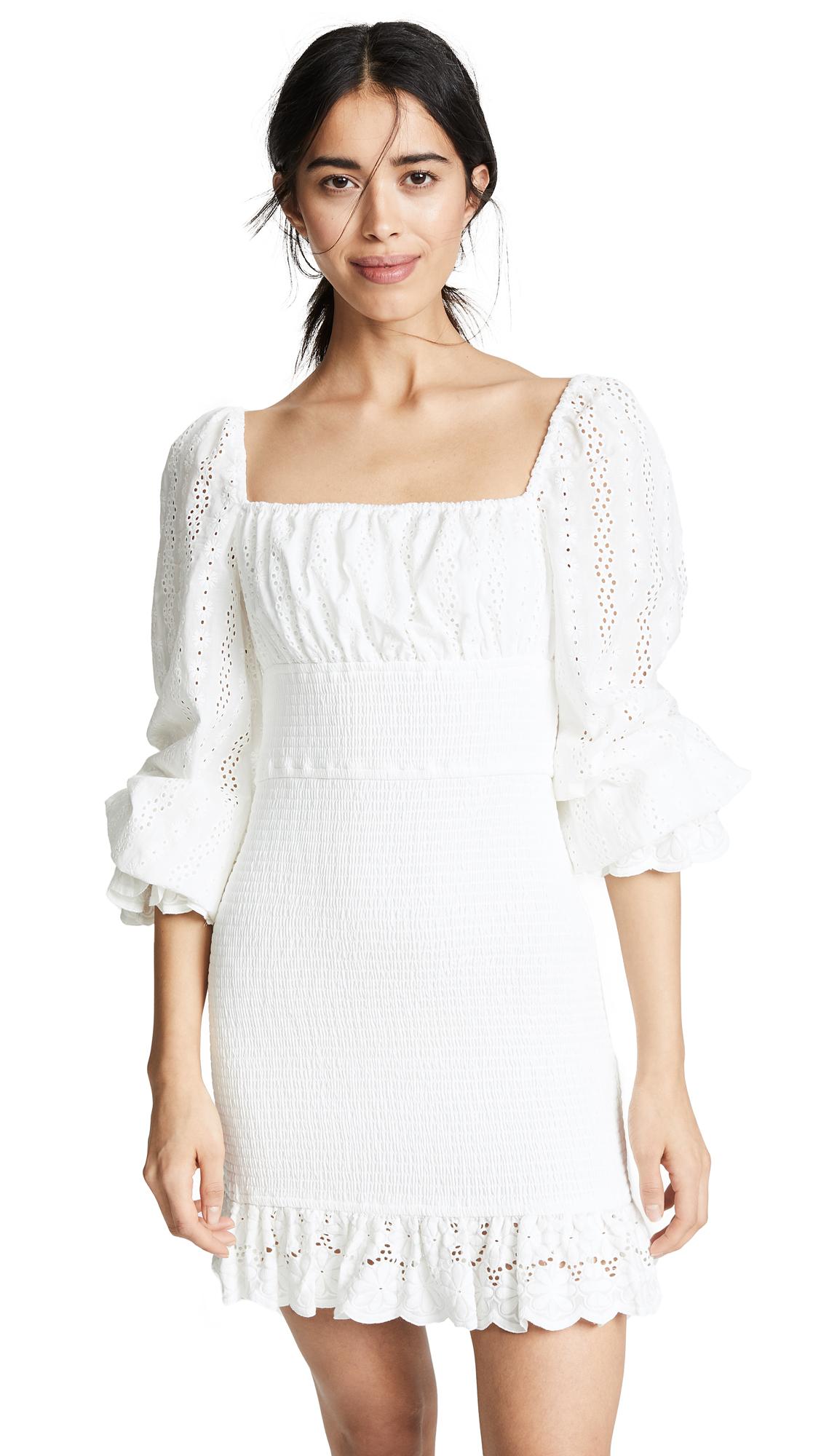FINDERS KEEPERS Honeysuckle Dress in Ivory