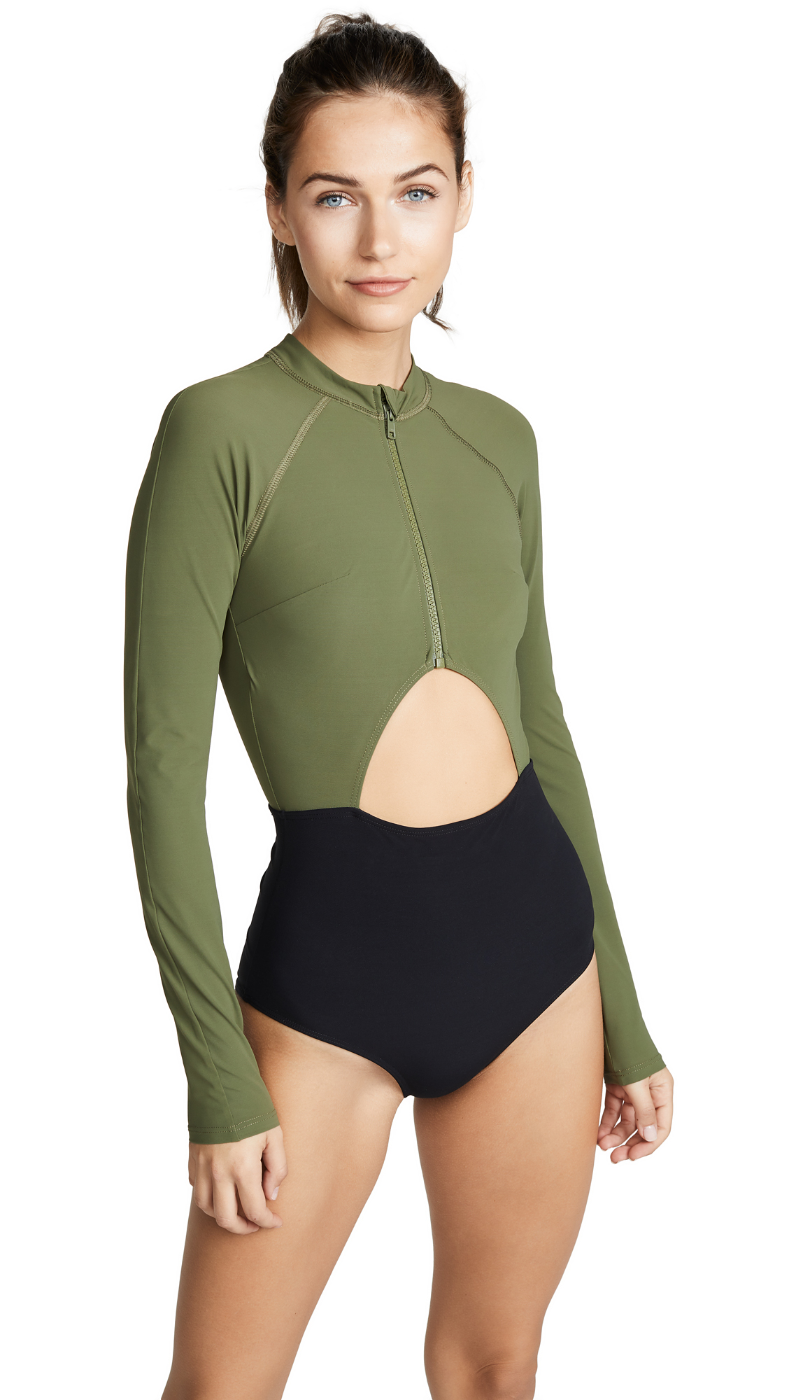 FLAGPOLE Kelly One Piece in Olive/Black