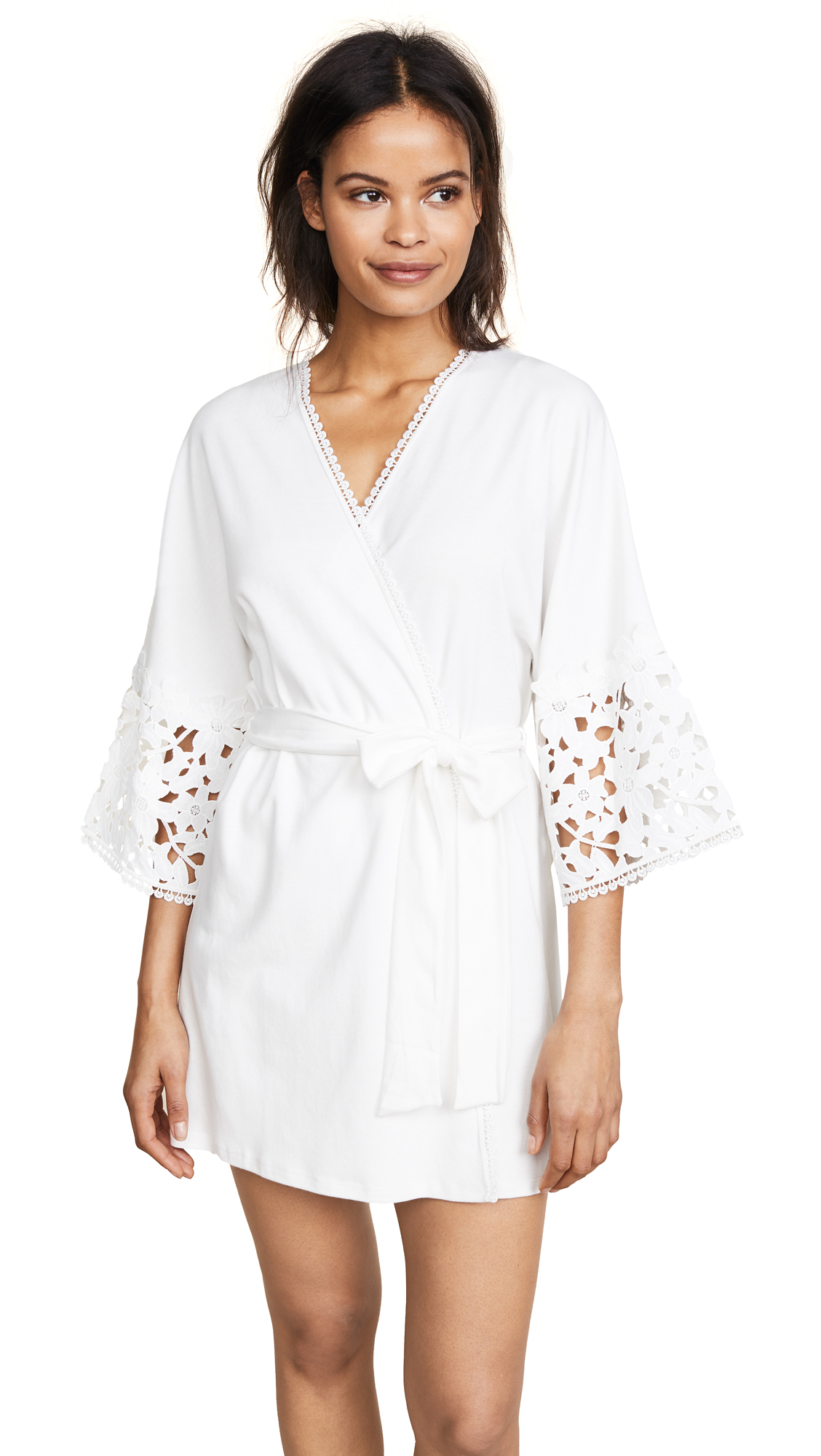 Flora Nikrooz Knit Robe In Ivory