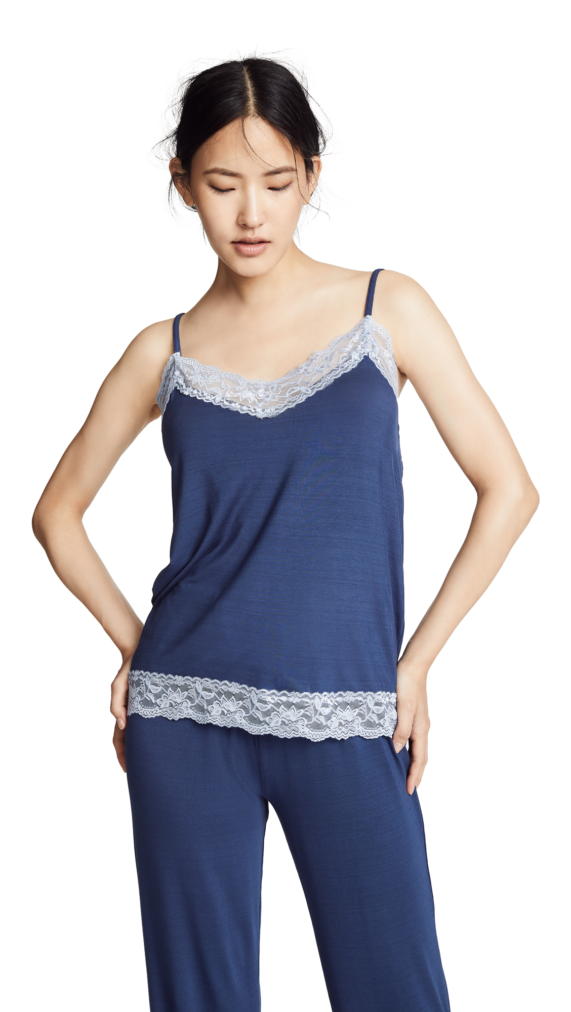 Flora Nikrooz Knit Cami with Lace