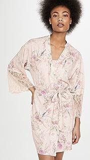 Flora Nikrooz Jasmine Knit Wrap With Lace Trim