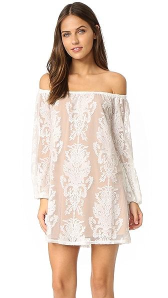 For Love & Lemons Precioso Dress In Ivory