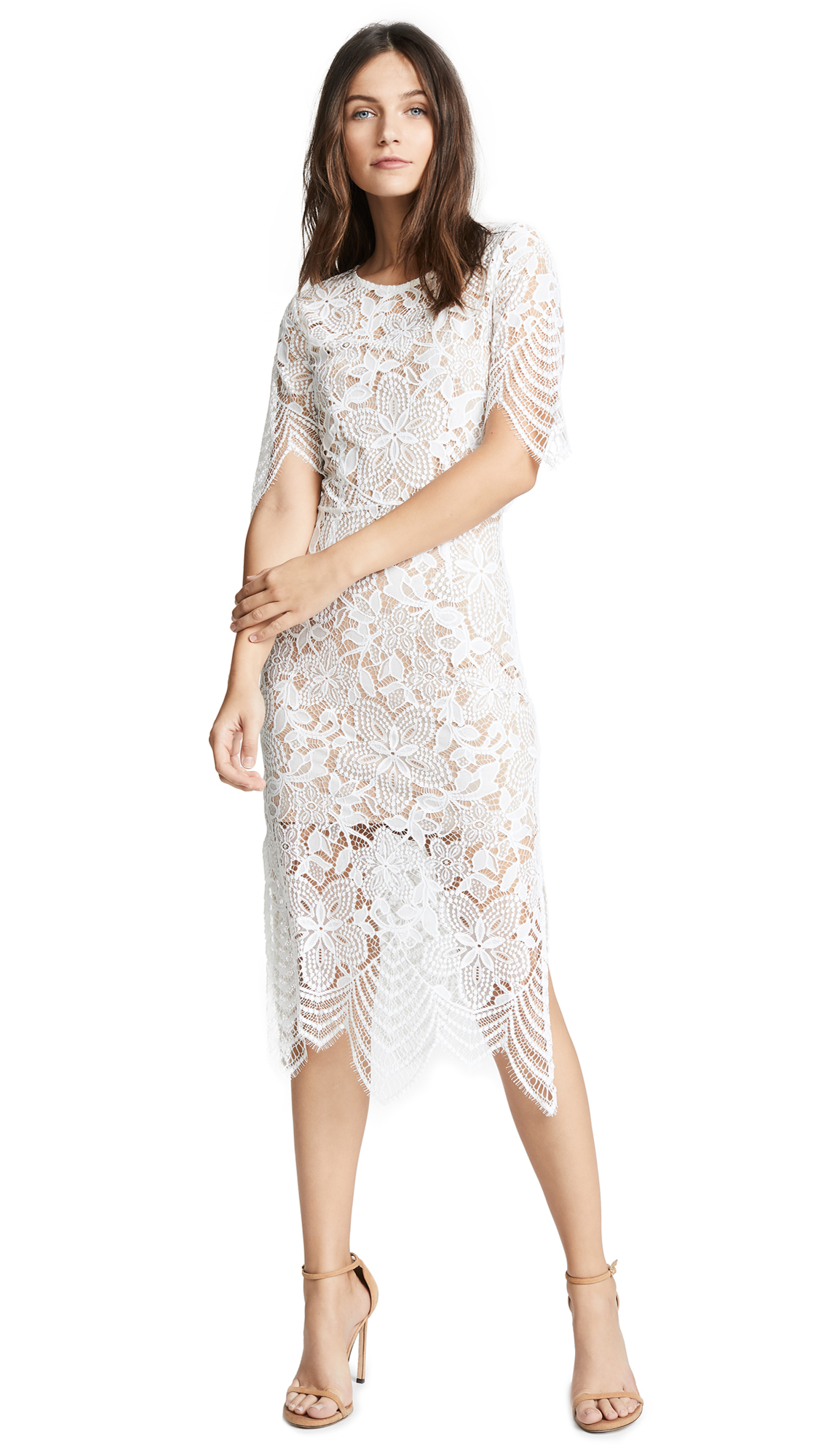 For Love & Lemons Luna Maxi Dress - White
