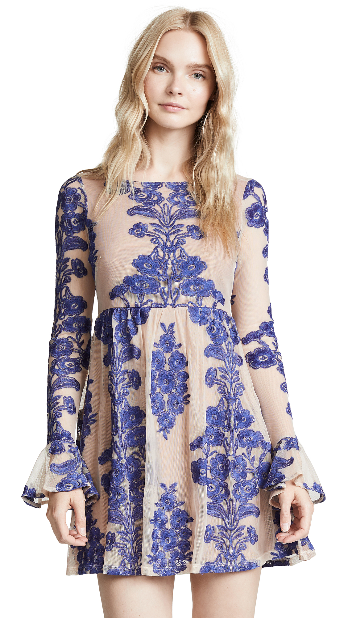 For Love & Lemons Temecula Mini Dress - Navy