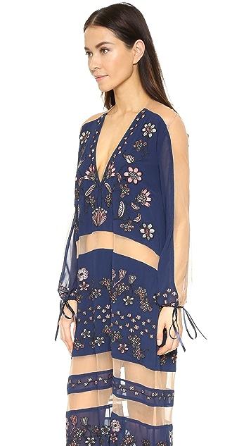 For Love & Lemons Niccola Maxi Dress