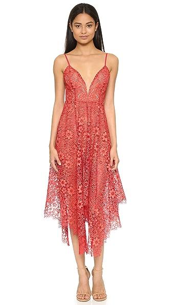 For Love & Lemons Rosemary Midi Dress