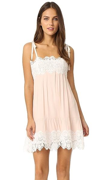 For Love & Lemons Lola Slip Dress - Dusty Pink