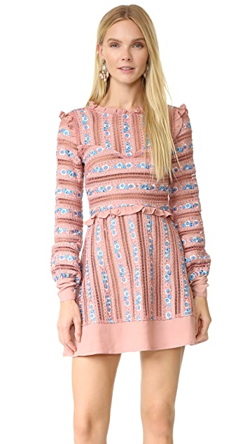 For Love & Lemons Persephone Embroidered Dress