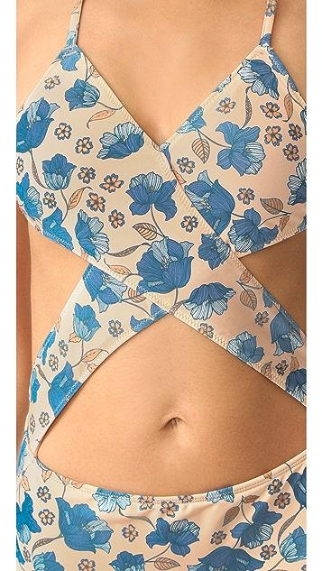 For Love & Lemons Tulip Criss Cross Swimsuit
