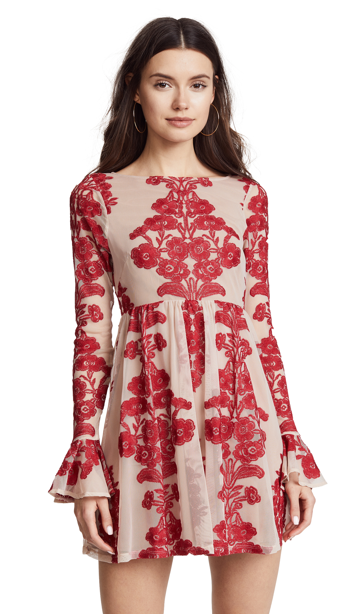 For Love & Lemons Temecula Mini Dress - Red