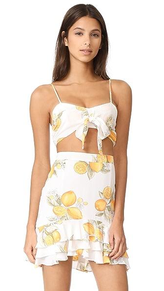 For Love & Lemons Limonada Crop Top
