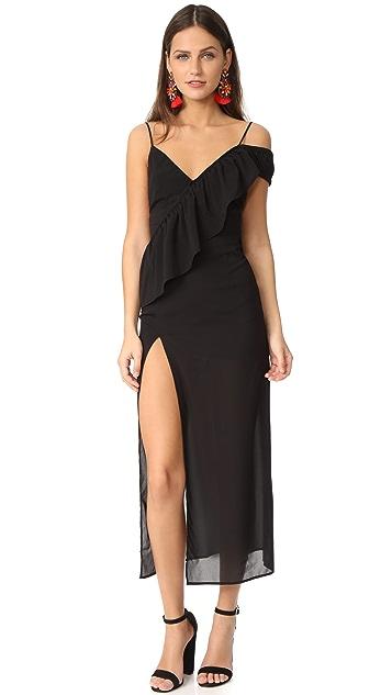 For Love & Lemons Flamenco Maxi Dress