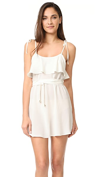 For Love & Lemons Little Rosette Nightgown In Ivory